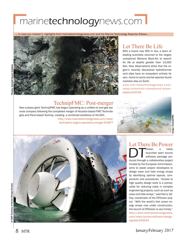Marine Technology Magazine January 2017, 8 page