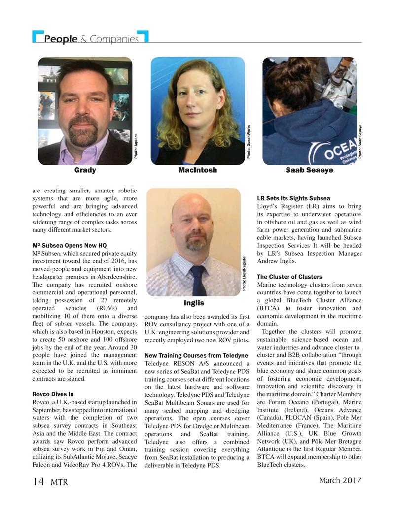 Marine Technology Magazine, page 14,  Mar 2017