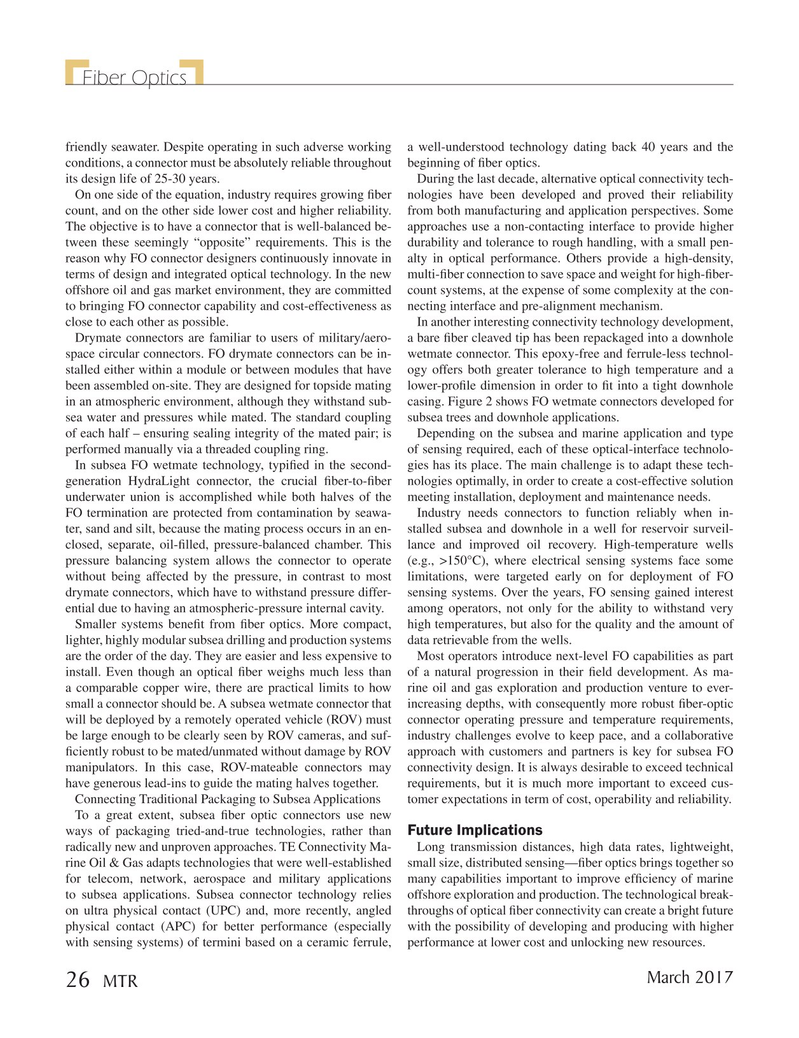 Marine Technology Magazine, page 26,  Mar 2017