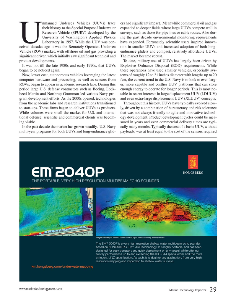 Marine Technology Magazine, page 29,  Mar 2017