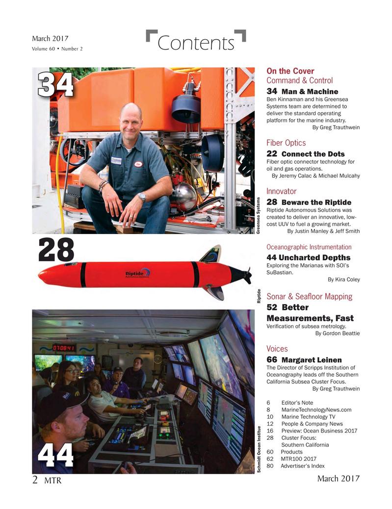 Marine Technology Magazine, page 2,  Mar 2017