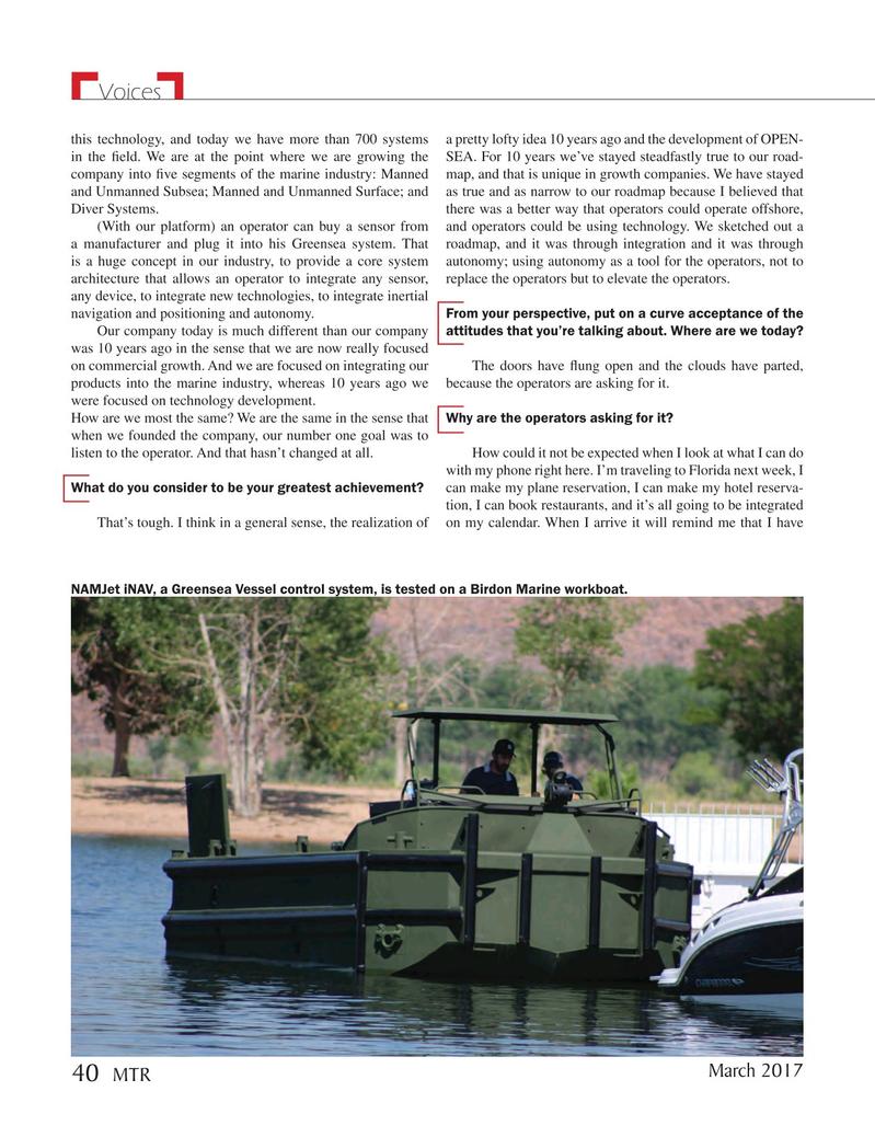 Marine Technology Magazine, page 40,  Mar 2017