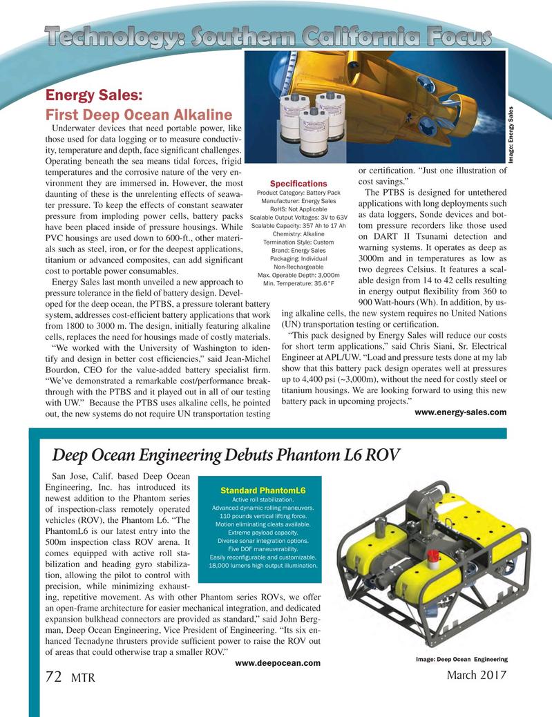 Marine Technology Magazine, page 72,  Mar 2017