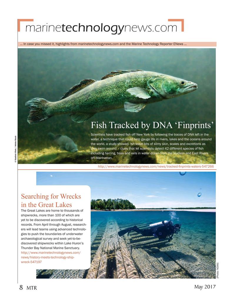 Marine Technology Magazine, page 8,  May 2017