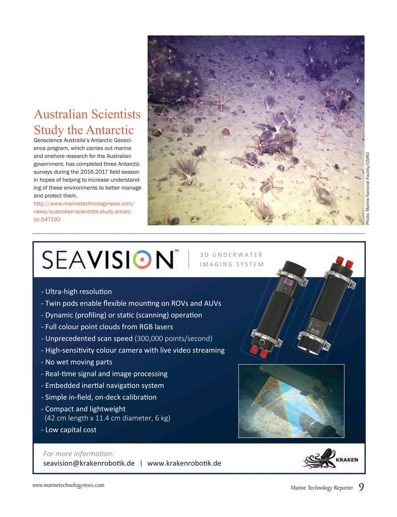 Marine Technology Magazine, page 9,  May 2017