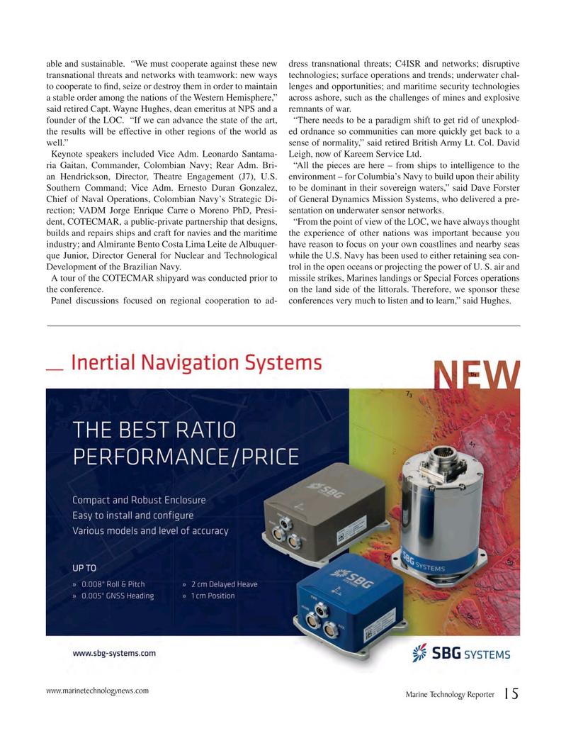 Marine Technology Magazine, page 15,  May 2017
