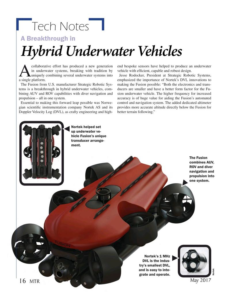 Marine Technology Magazine, page 16,  May 2017