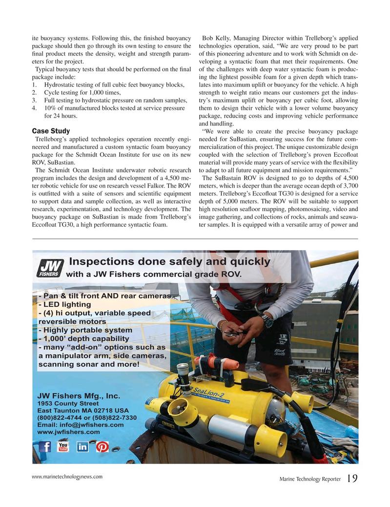 Marine Technology Magazine, page 19,  May 2017