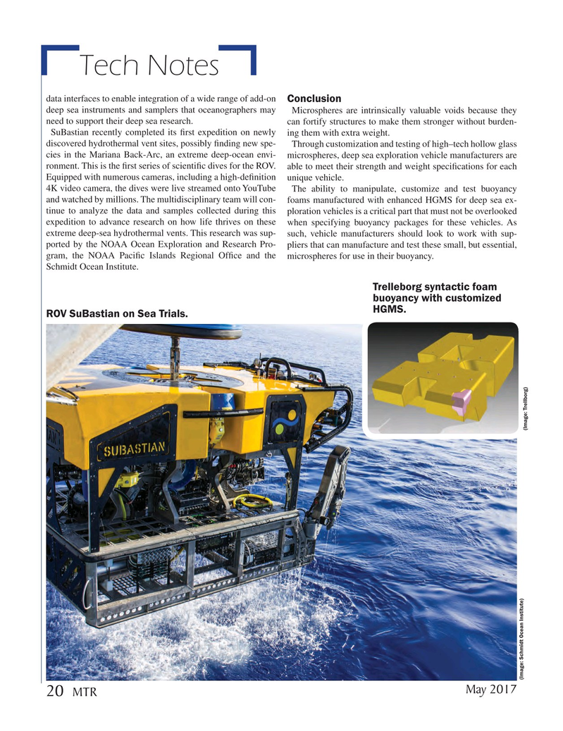 Marine Technology Magazine, page 20,  May 2017