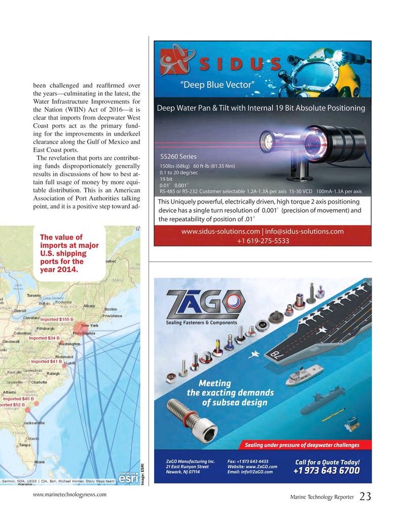 Marine Technology Magazine, page 23,  May 2017