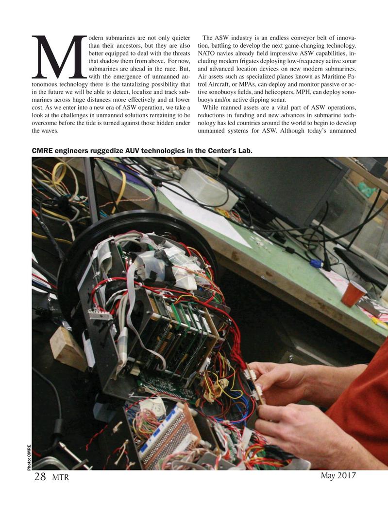 Marine Technology Magazine, page 28,  May 2017