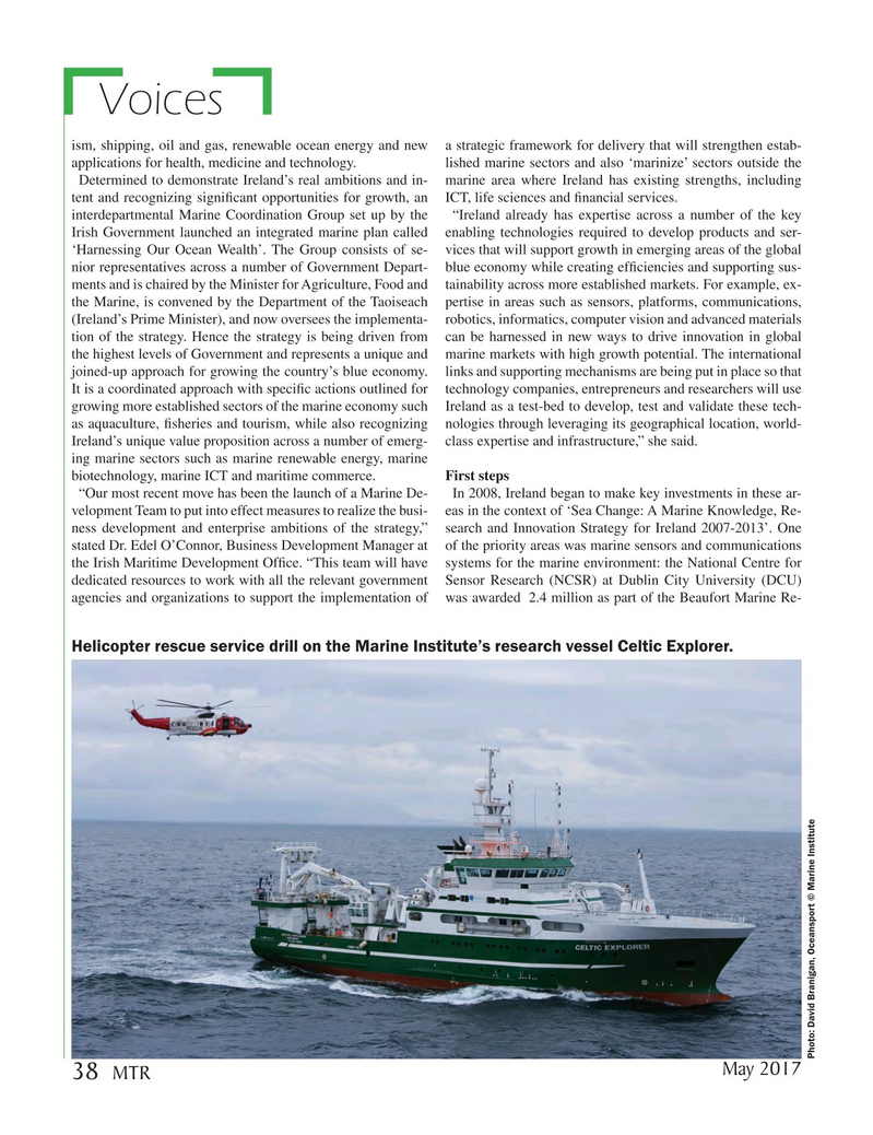 Marine Technology Magazine, page 38,  May 2017