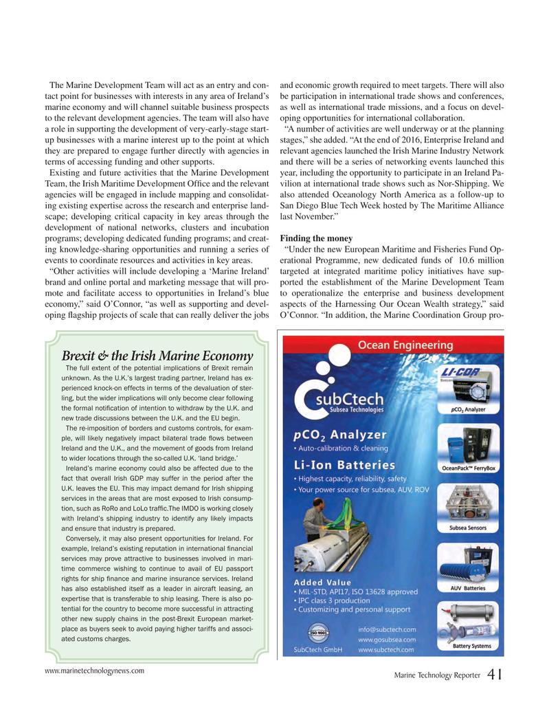 Marine Technology Magazine, page 41,  May 2017