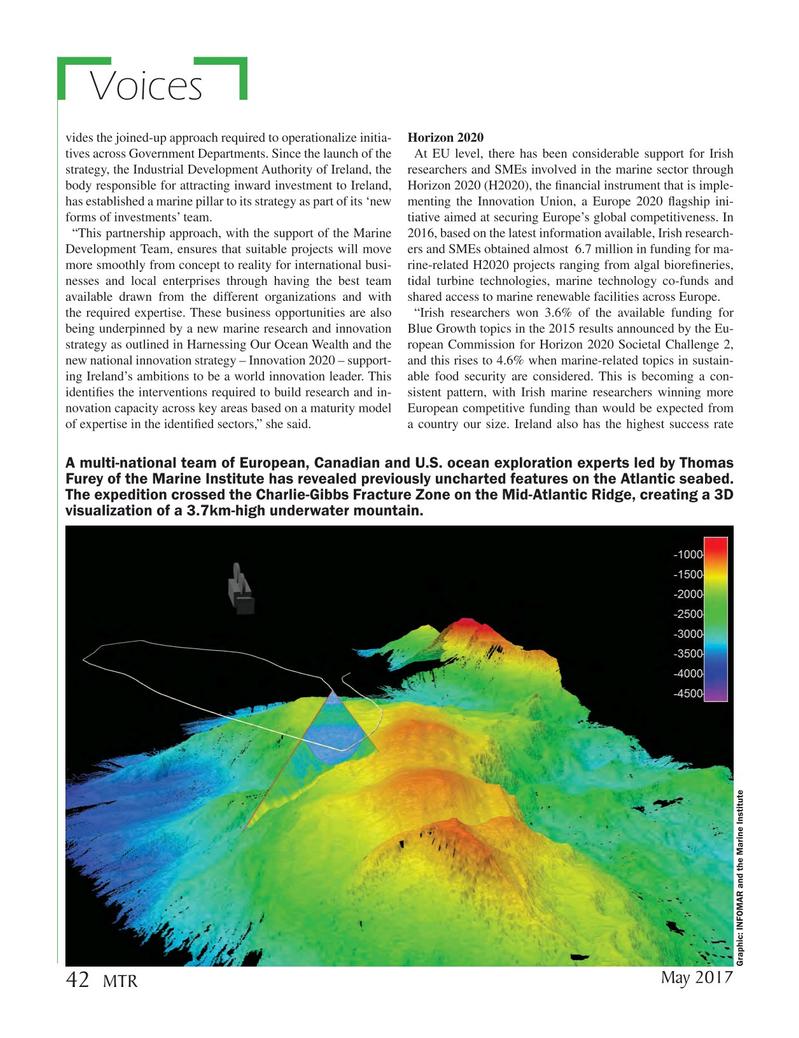 Marine Technology Magazine, page 42,  May 2017