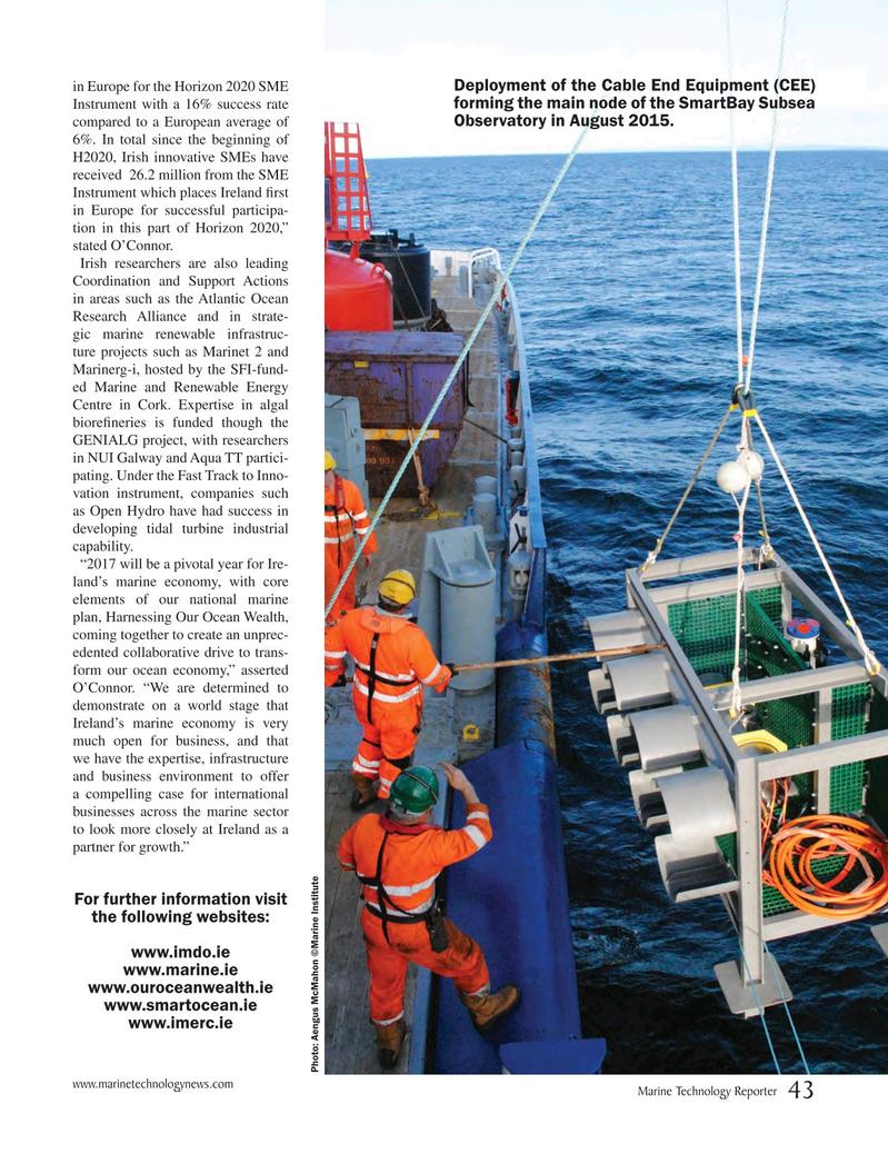 Marine Technology Magazine, page 43,  May 2017