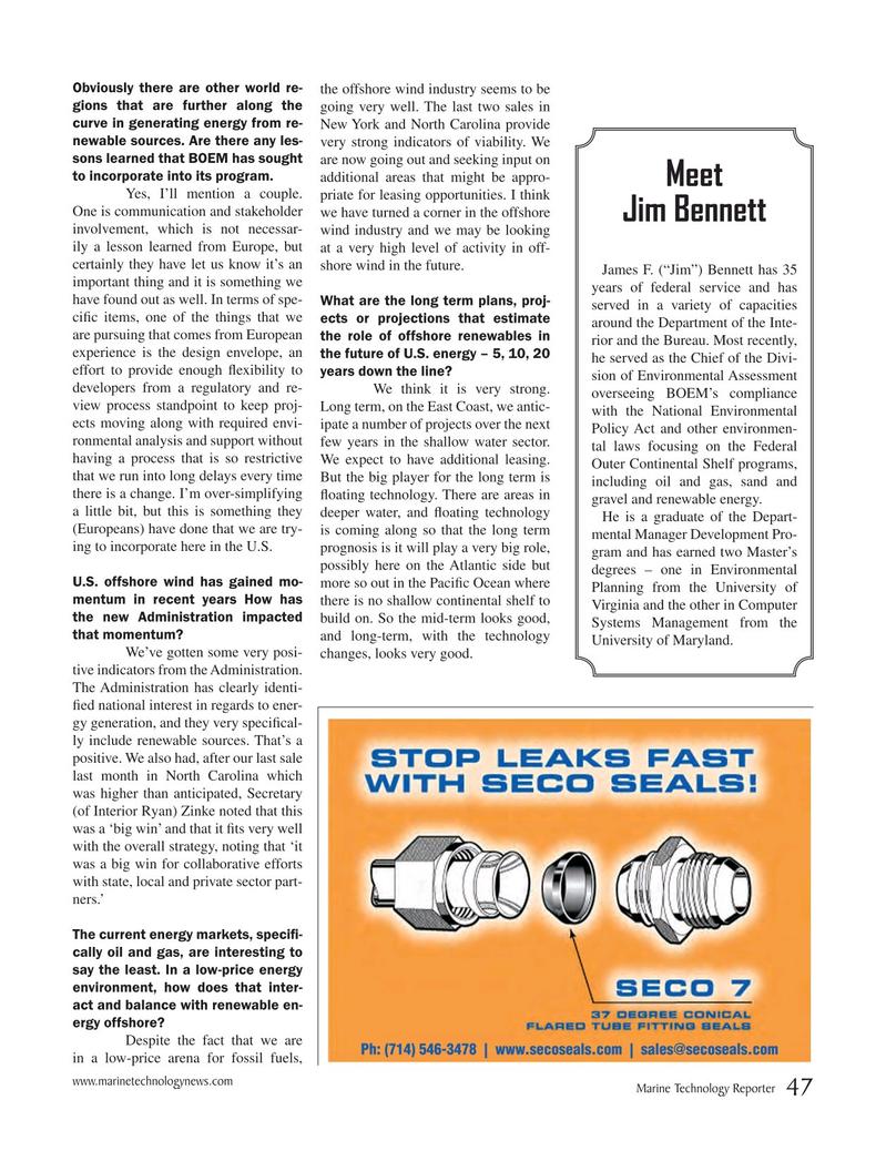 Marine Technology Magazine, page 47,  May 2017