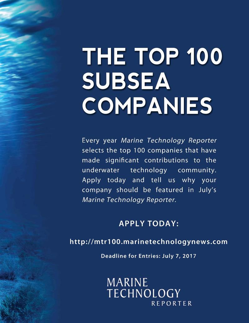 Marine Technology Magazine, page 49,  May 2017