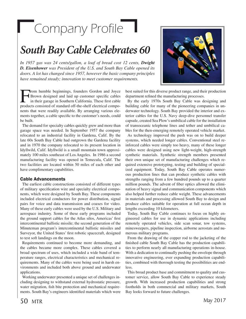 Marine Technology Magazine, page 50,  May 2017