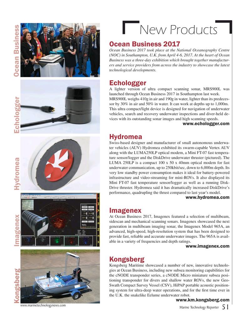 Marine Technology Magazine, page 51,  May 2017
