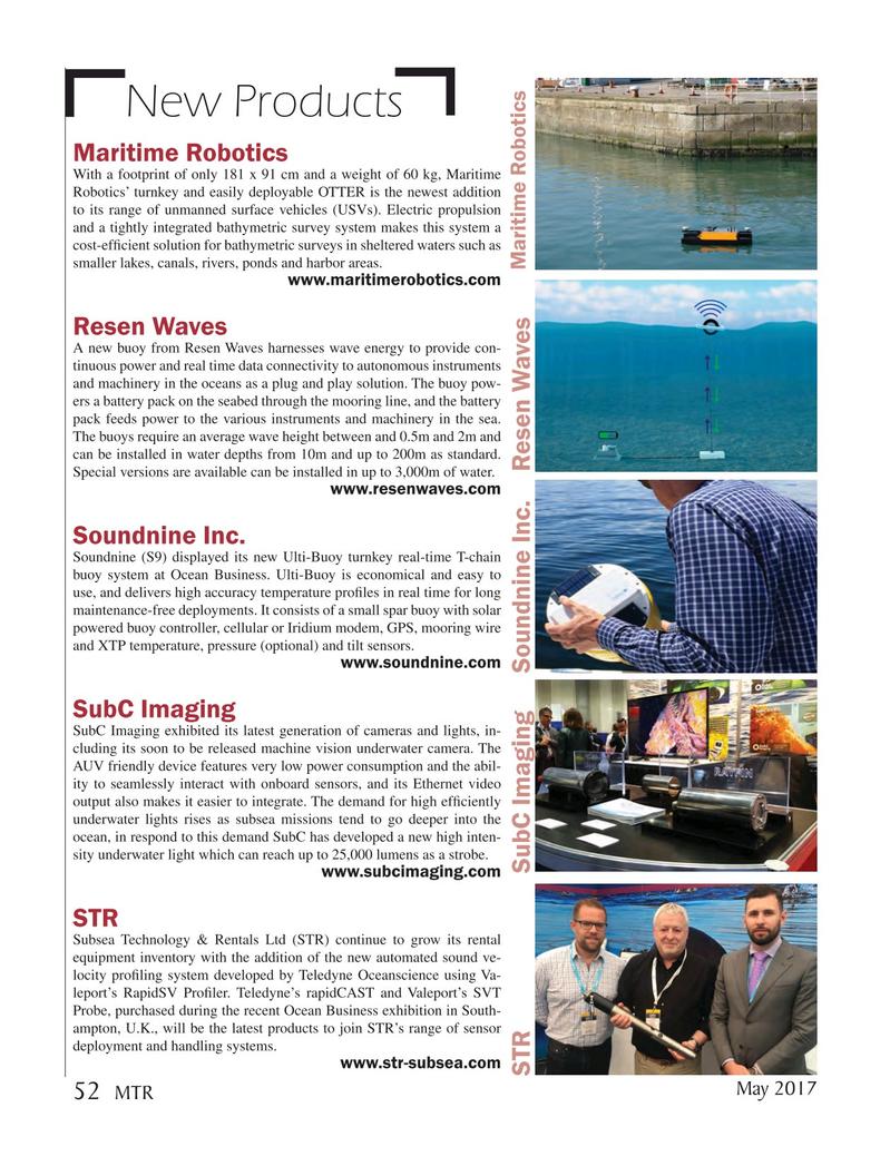 Marine Technology Magazine, page 52,  May 2017