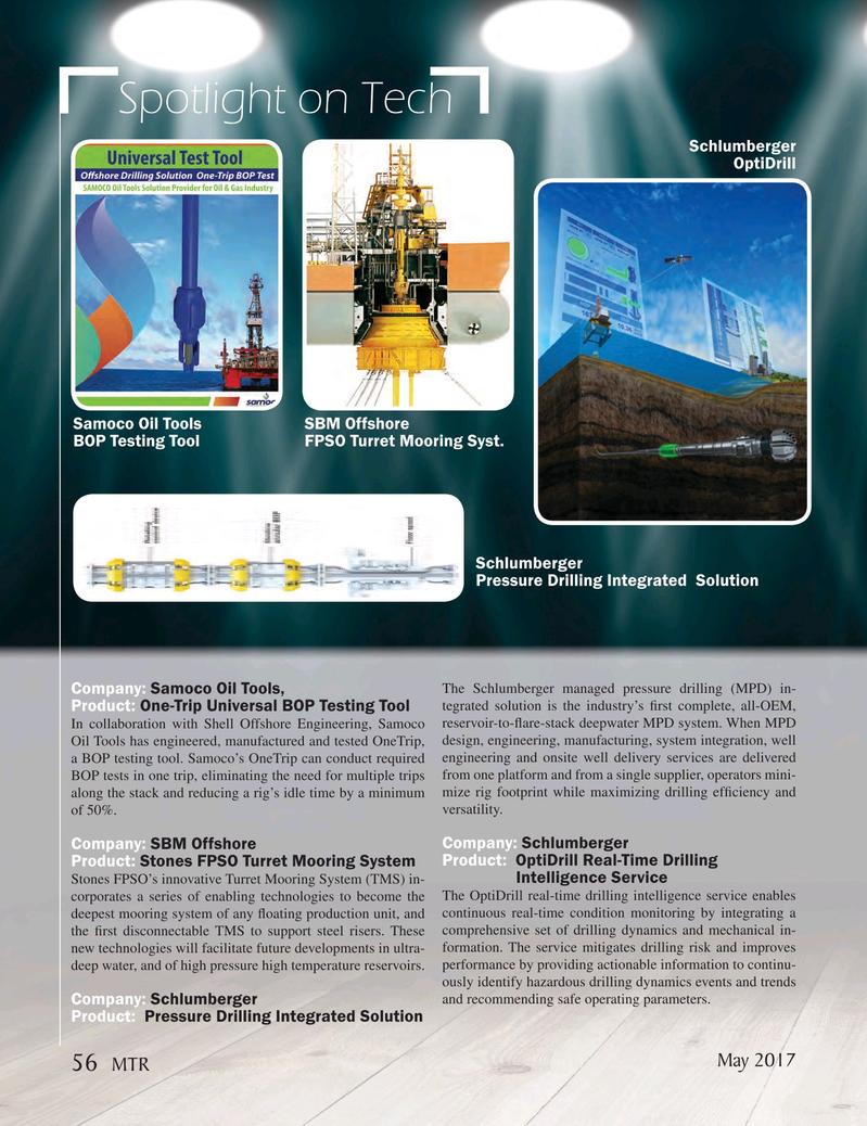 Marine Technology Magazine, page 56,  May 2017