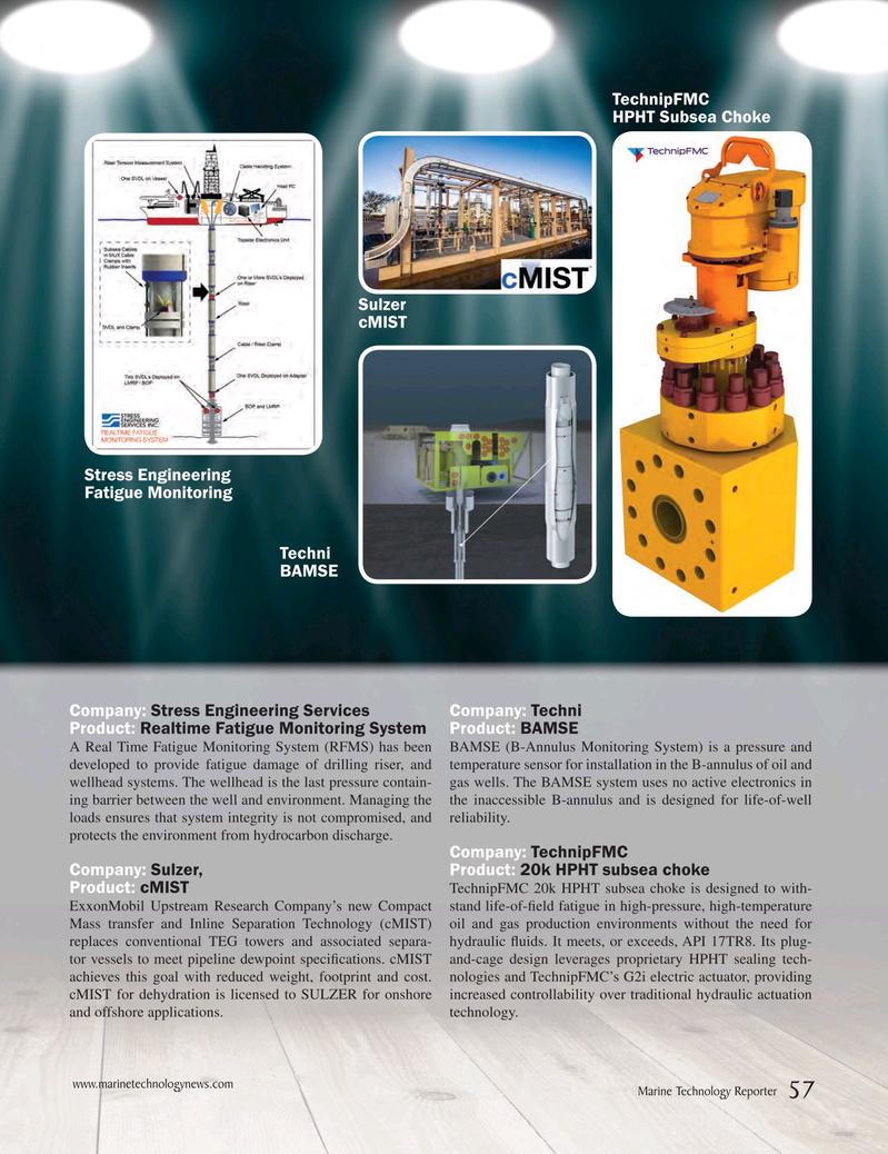 Marine Technology Magazine, page 57,  May 2017