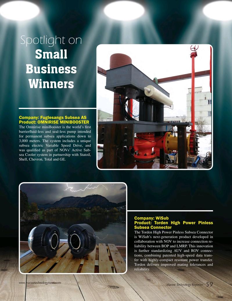 Marine Technology Magazine, page 59,  May 2017