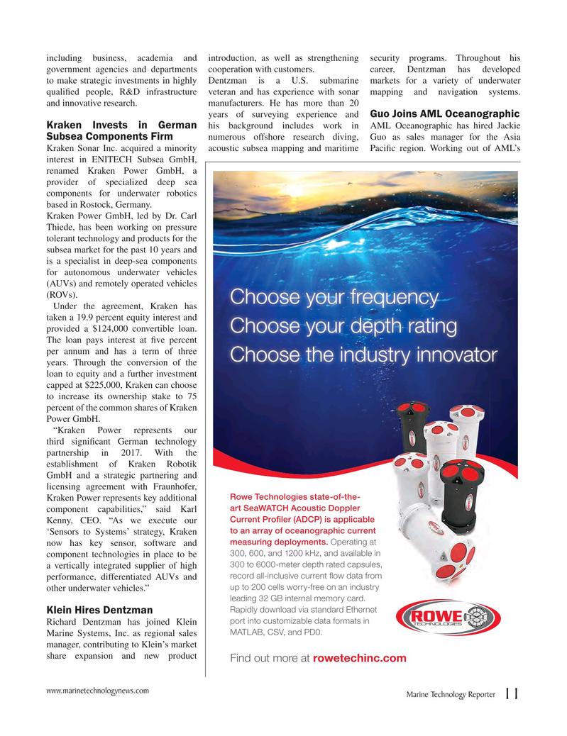 Marine Technology Magazine, page 11,  Jun 2017