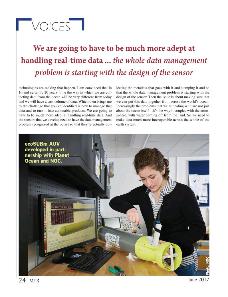Marine Technology Magazine, page 24,  Jun 2017