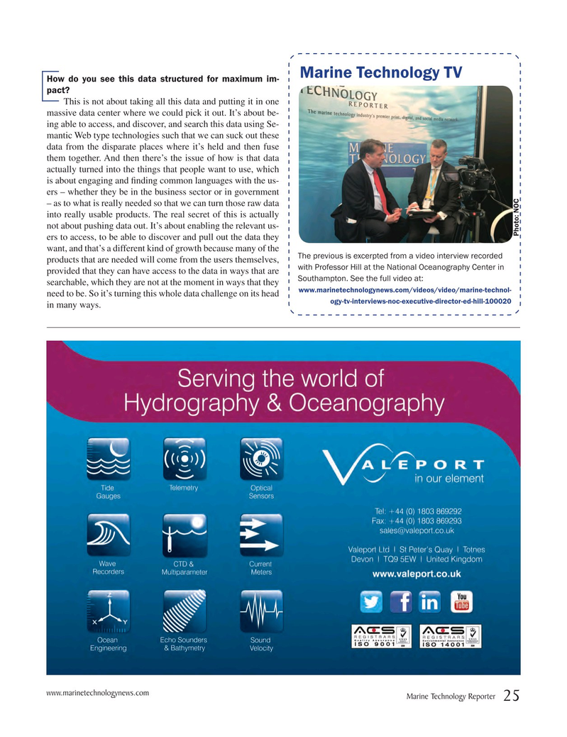 Marine Technology Magazine, page 25,  Jun 2017