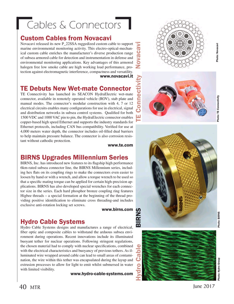 Marine Technology Magazine, page 40,  Jun 2017