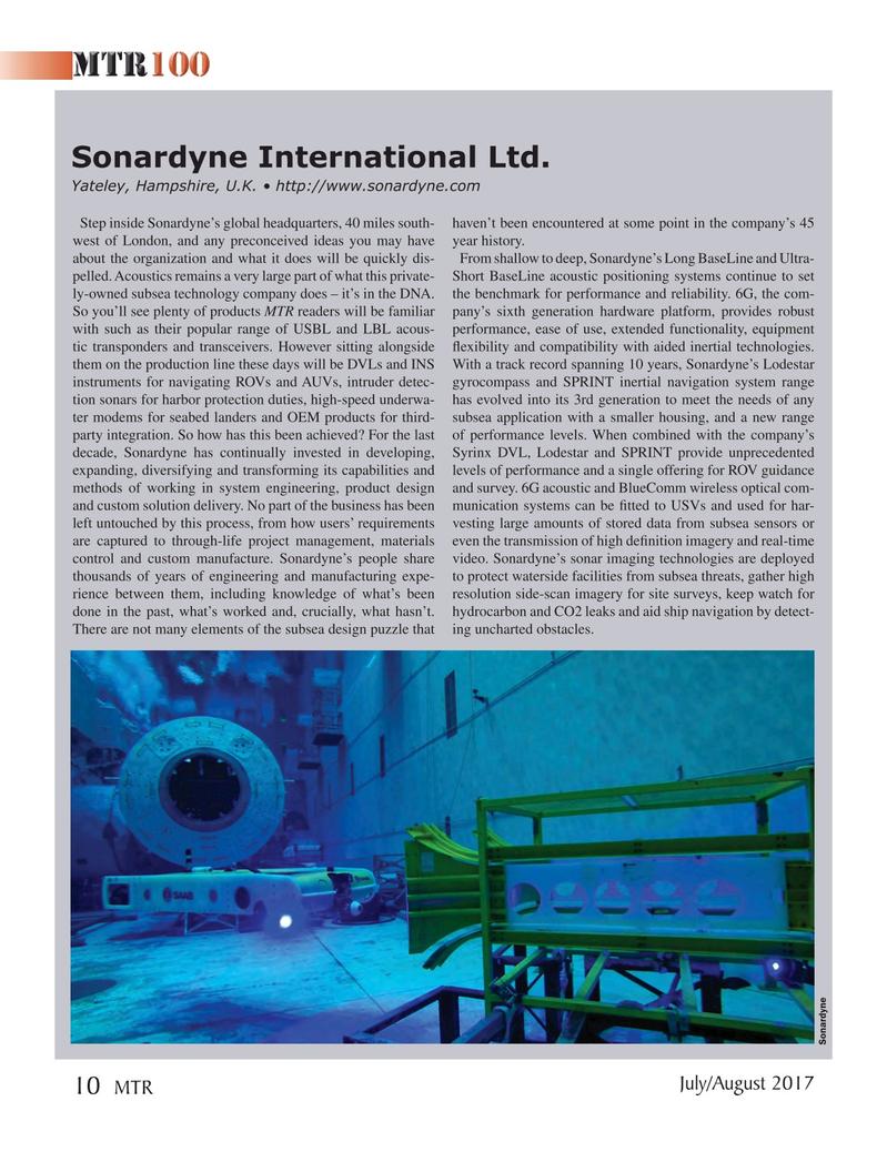 Marine Technology Magazine, page 10,  Jul 2017