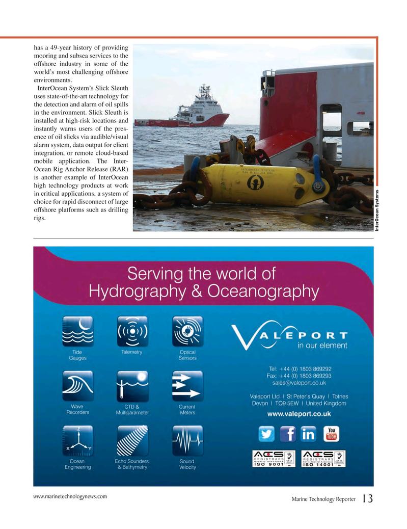 Marine Technology Magazine, page 13,  Jul 2017