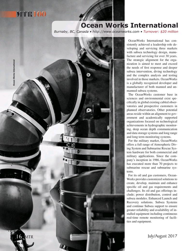 Marine Technology Magazine, page 16,  Jul 2017