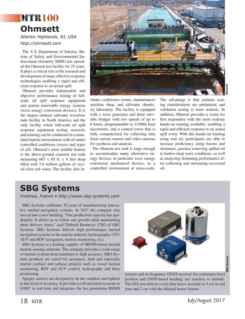 Marine Technology Magazine, page 18,  Jul 2017