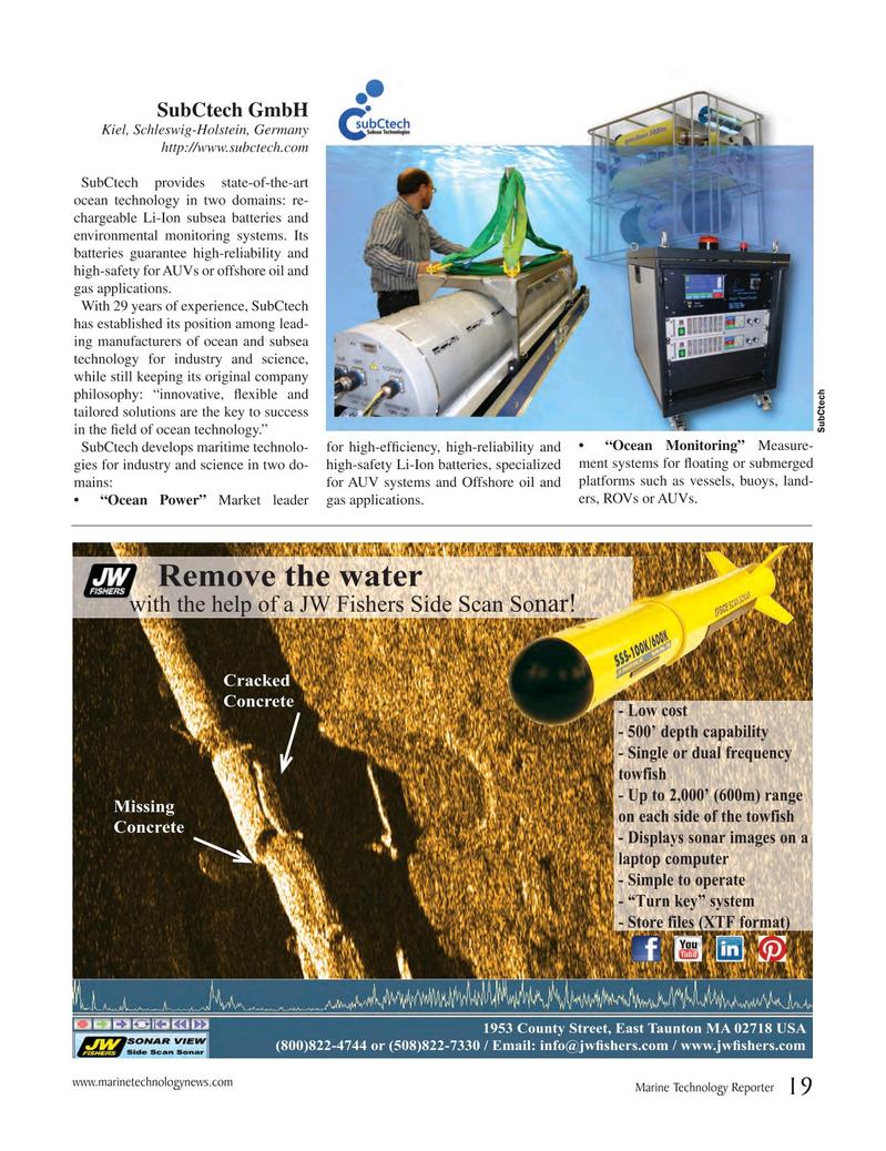 Marine Technology Magazine, page 19,  Jul 2017