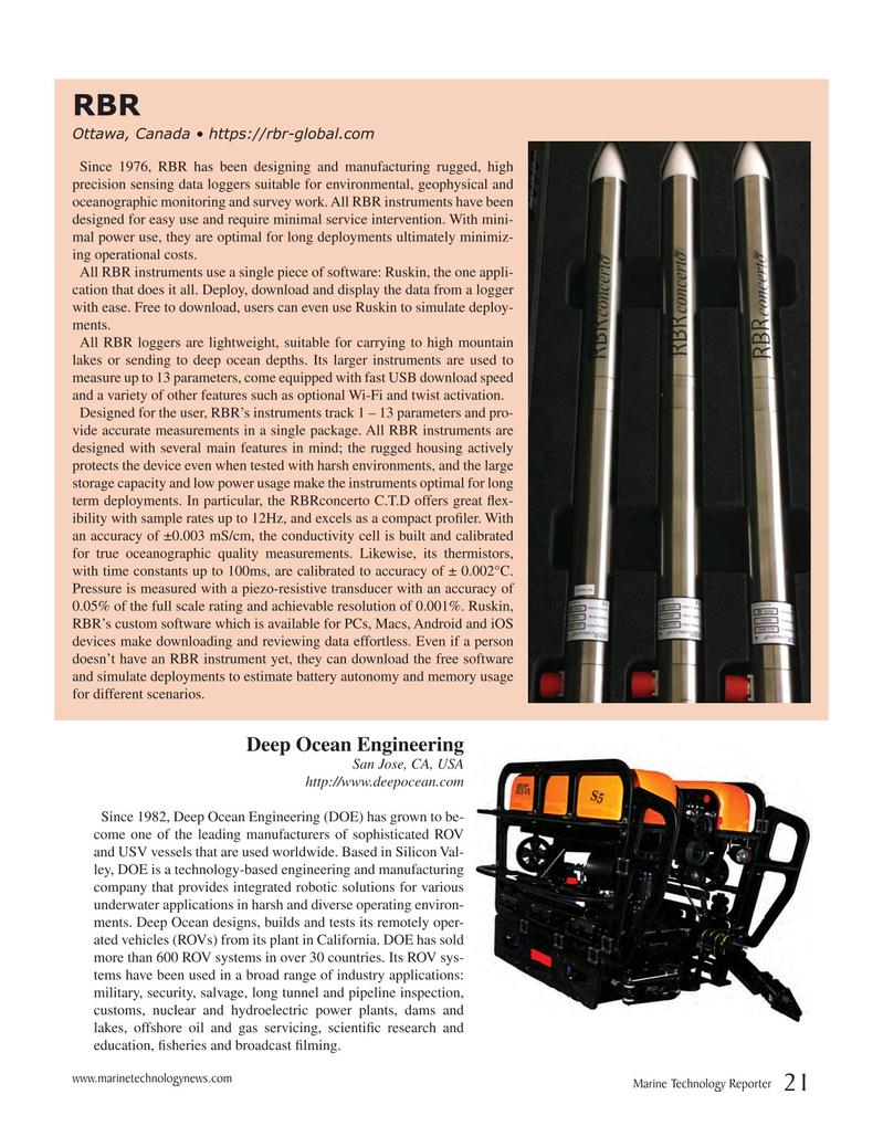 Marine Technology Magazine, page 21,  Jul 2017