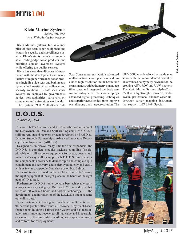 Marine Technology Magazine, page 24,  Jul 2017
