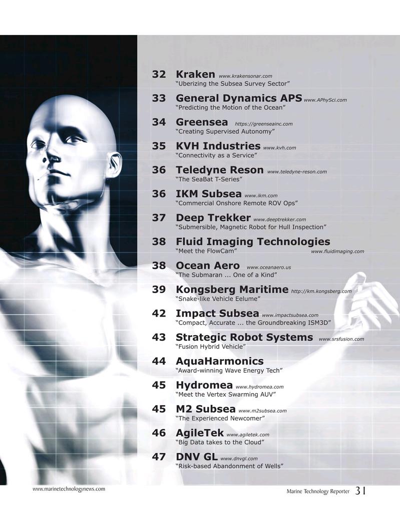 Marine Technology Magazine, page 31,  Jul 2017