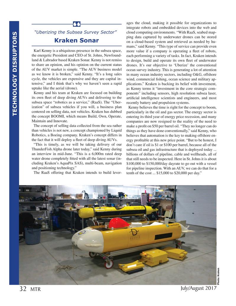 Marine Technology Magazine, page 32,  Jul 2017