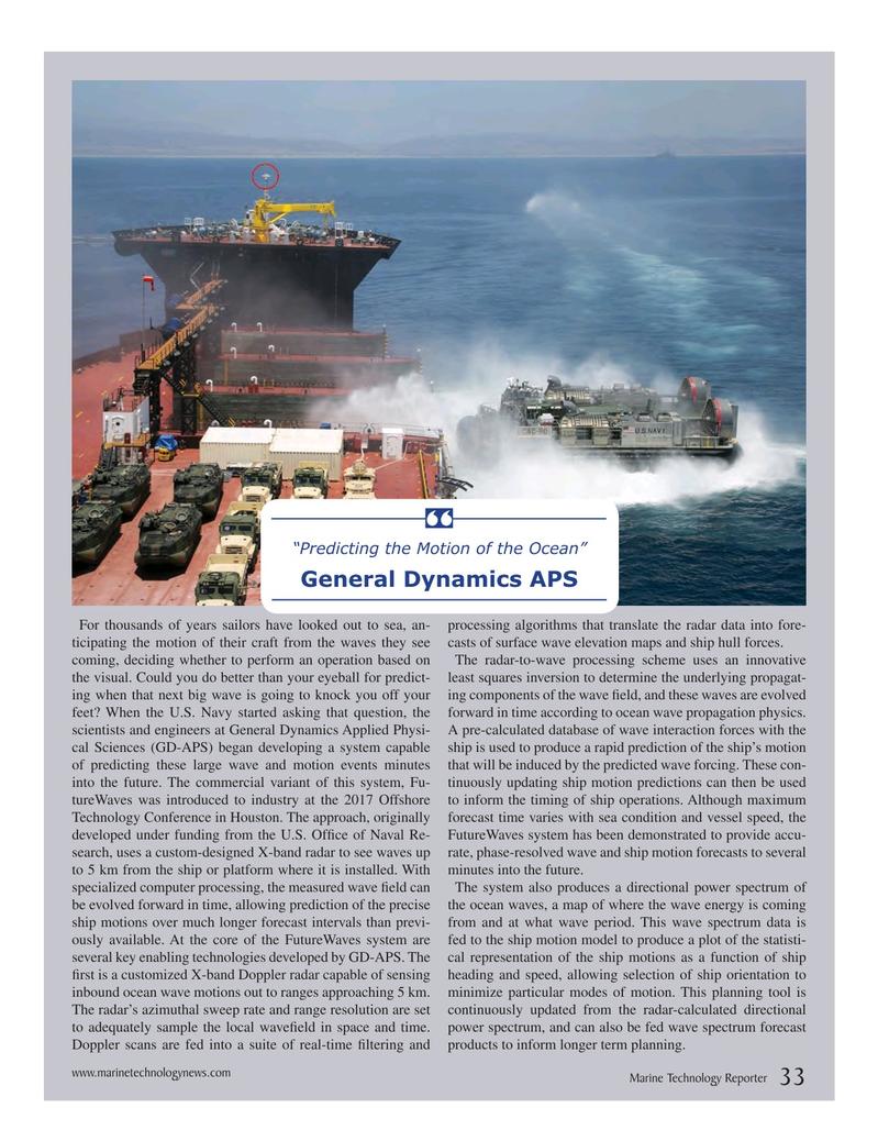 Marine Technology Magazine, page 33,  Jul 2017