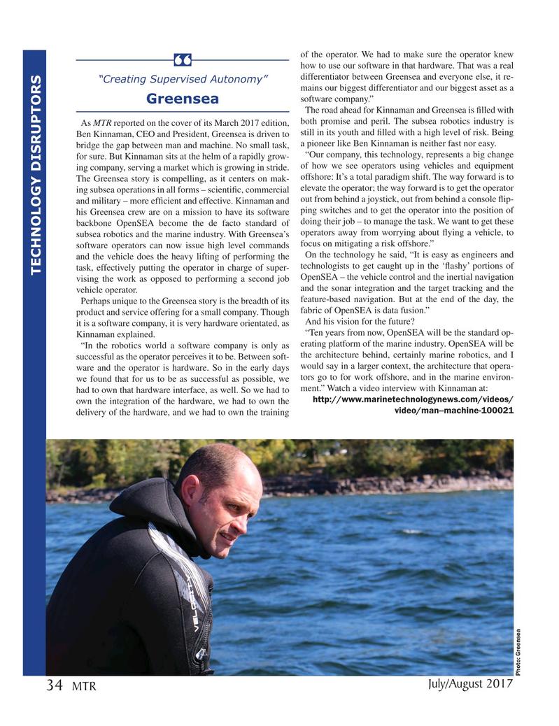 Marine Technology Magazine, page 34,  Jul 2017