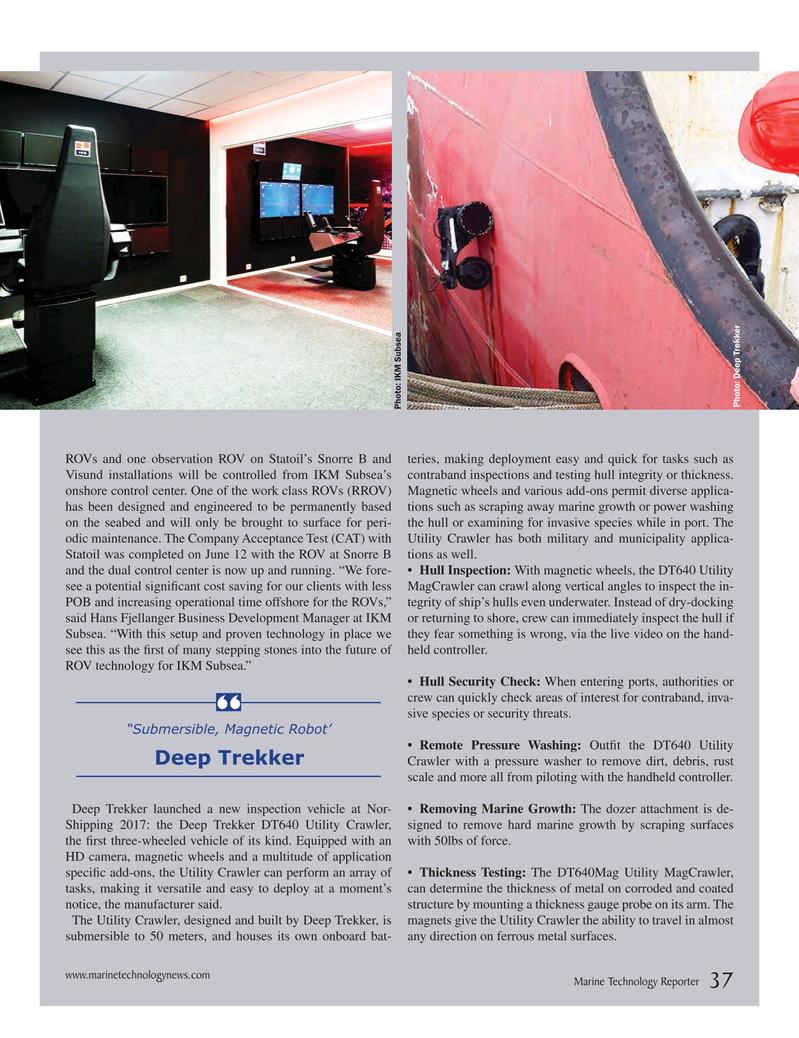 Marine Technology Magazine, page 37,  Jul 2017