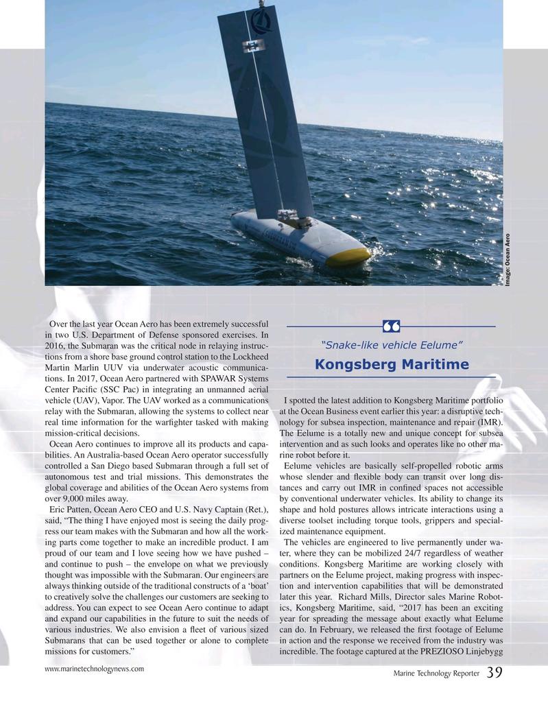 Marine Technology Magazine, page 39,  Jul 2017