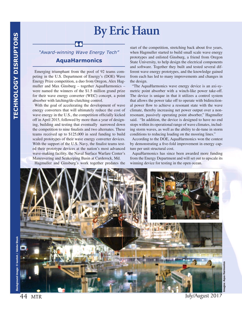 Marine Technology Magazine, page 44,  Jul 2017