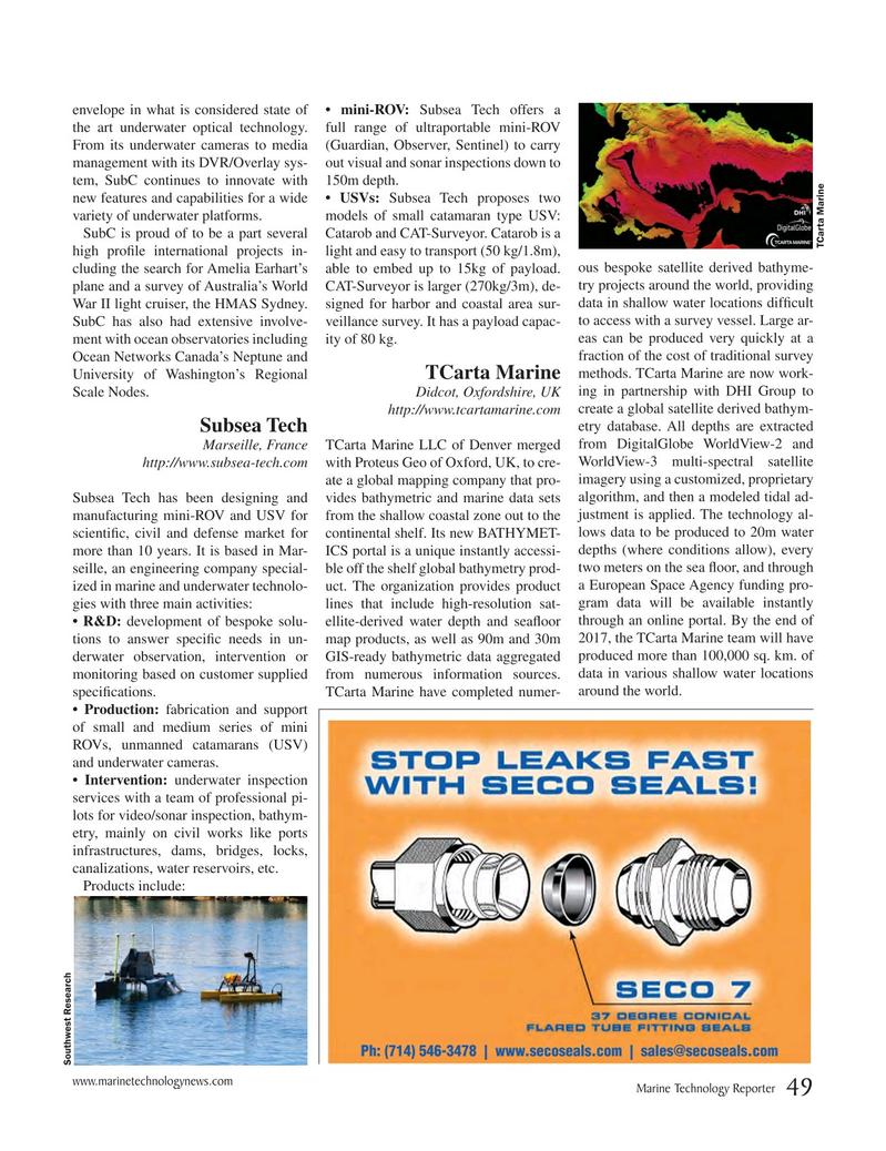 Marine Technology Magazine, page 49,  Jul 2017