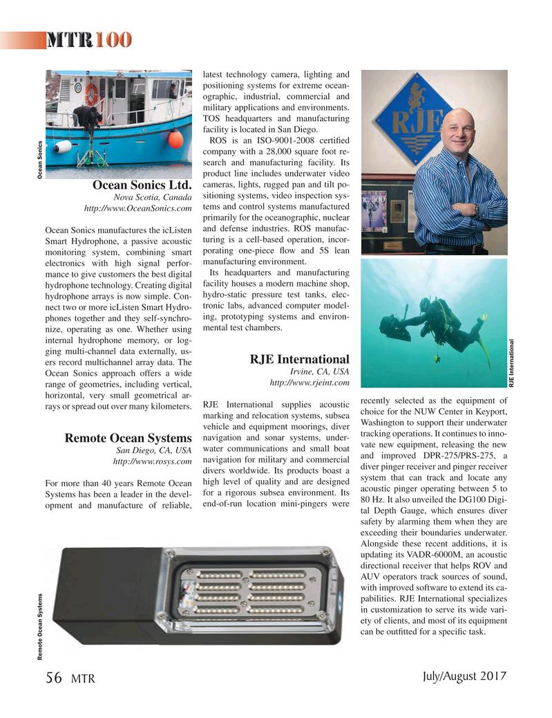 Marine Technology Magazine, page 56,  Jul 2017