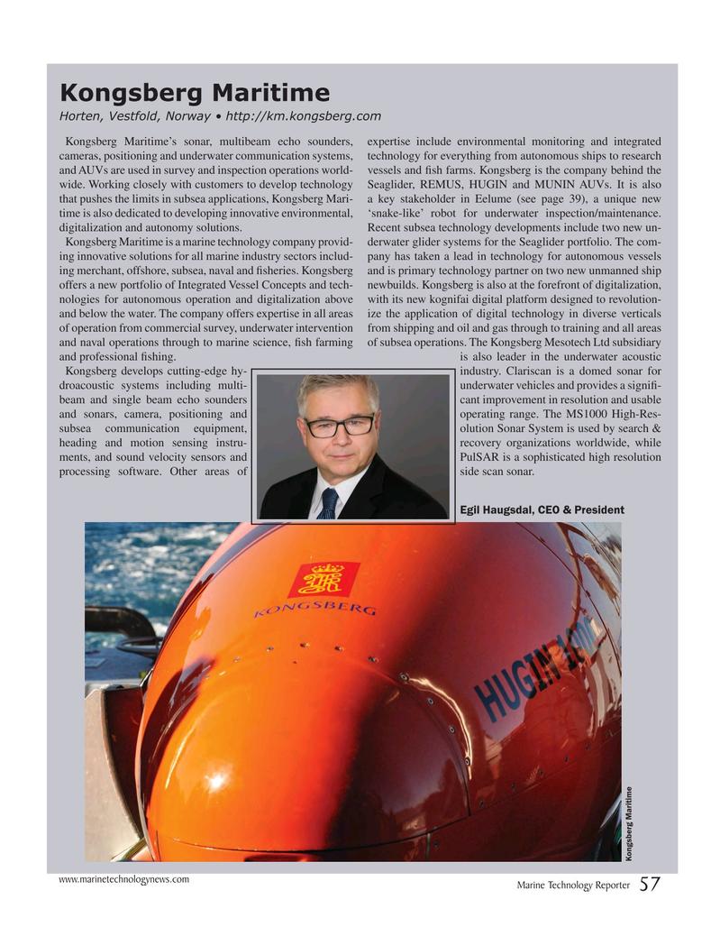 Marine Technology Magazine, page 57,  Jul 2017