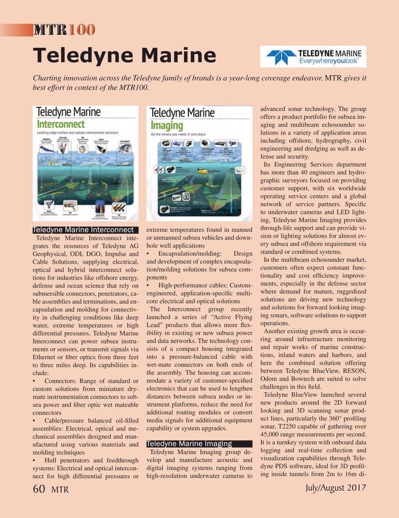 Marine Technology Magazine, page 60,  Jul 2017