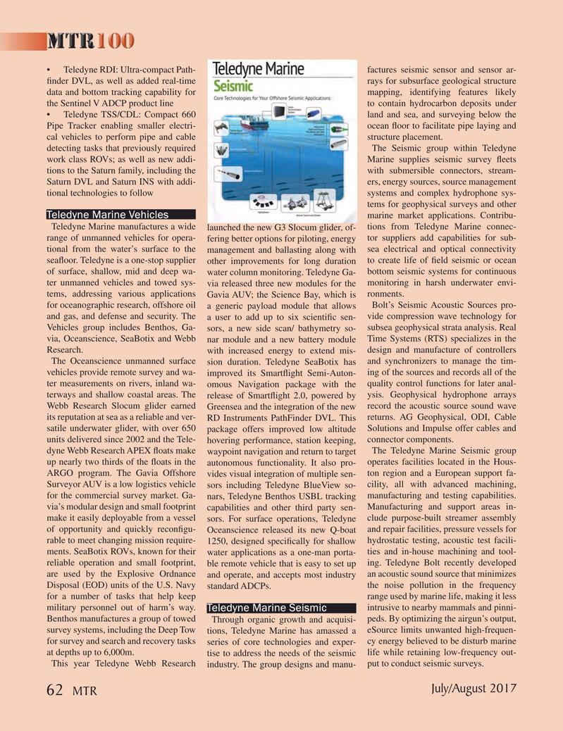 Marine Technology Magazine, page 62,  Jul 2017